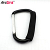 Customized Small D shape climbing aluminum metal carabiner clip
