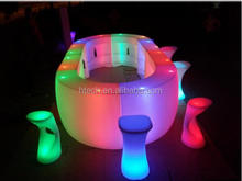 Modern fashionable night club bar furniture led chairs and tables made in Guangdong