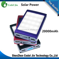 Fashion design mobile rechargeable solar powerbank waterproof solar power bank