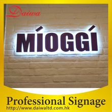 Beauty Korean Back-lit LED Stainless-Steel Letters Signs