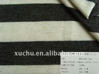 black and white rayon stripe fabric