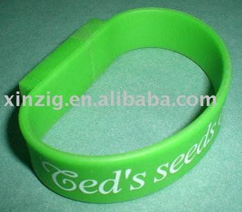 usb memory flash disk with silicone bracelet