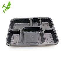 High temperature resistant food container disposable plastic food tray CPET catering tray