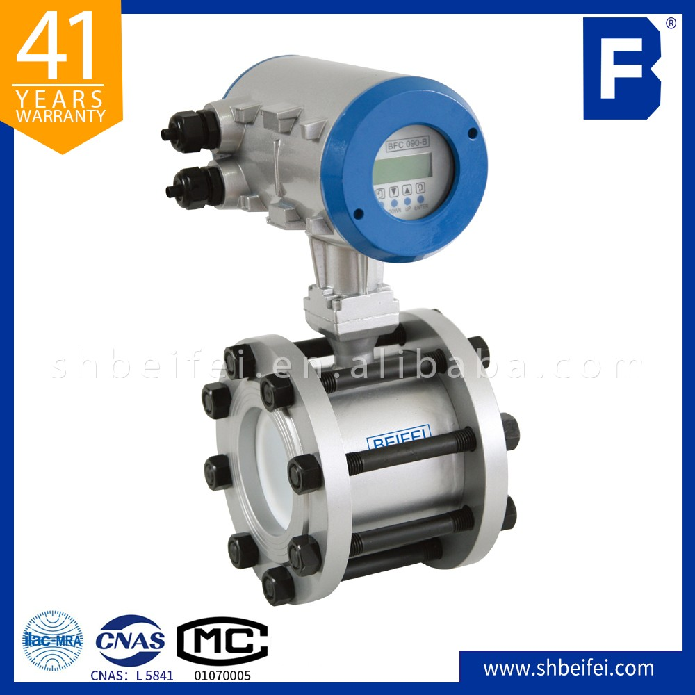 4-20ma Clamping type electromagnetic flowmeter
