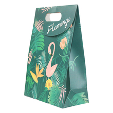 Brand New Luxury <strong>Paper</strong> Bags with Your Own Logo Custom Flamingo Flip Gift bag