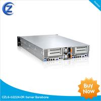2U Server 2 motherboards dual processors high density blade server barebone 24 bays CZL6-G2224-DR Xeon E5-2600