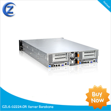 2U Server 2 motherboards dual processors high density blade server barebone 24 bays CZL6-G2224-DR Xeon E5-2600