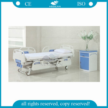 AG-BYS001 CE ISO approved comfortable manual hospital bed cheap price for sale