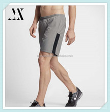 100% polyester loose fit side panels mens gym wear running shorts
