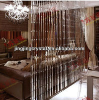 Restaurant Crystal Glass Chain Curtain for decoartion from China Factory
