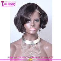 Make you own 10 inches lace fornt wigs in manila #1b color partial lace front wig