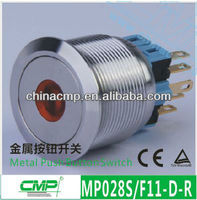 Installment Diameter 28mm Push Button Switch With LED Light--IP67 Protect Level