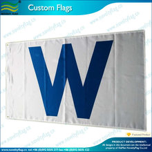 3x5ft Chicago Cubs White 'W' Win Wrigley Field Flag