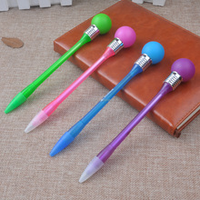 Good quality promotional Led light flashing lamp bulb pens with ball