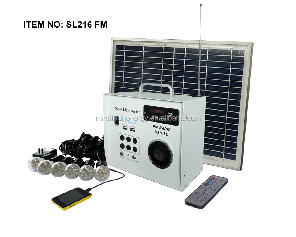 Hot sale portable home lighting solar heating system 1W to 60W with solar radio and solar fan