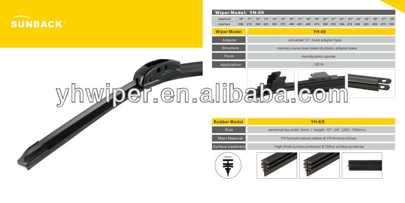 classical auto part windshield wiper arm
