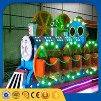 Indoor kiddie cartoon train amusement park ride thomas and friends train for shopping mall