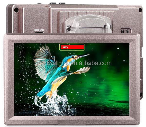 "G70 7"" Aluminum Design IPS 1920x1200 Full HD HDMI 3G-SDI On-camera Mount LCD Monitor with Waveform, VectorScope, Histogram"