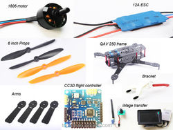 Spare parts Smart rc Drone 1500mAh Lipo Battery QAV 250 Battery parts RC DRONE SPARE PARTS