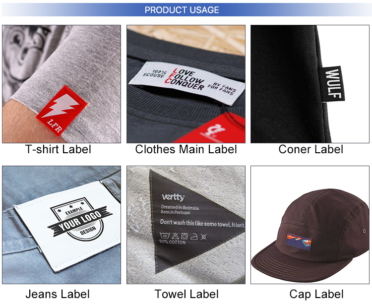 Factory Prices No MOQ Customize Clothing Woven Label Embroidery Patch