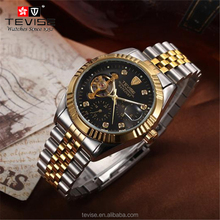 Men Fashion Brand TEVISE Men's Top Quality Mechanical Watch Men's Bussiness Stainless Steel Band Watch Waterproof