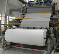 Low Cost toilet paper,facial tissue paper making machinery, raw material: waste paper, straw, bagasse, bamboo, etc.