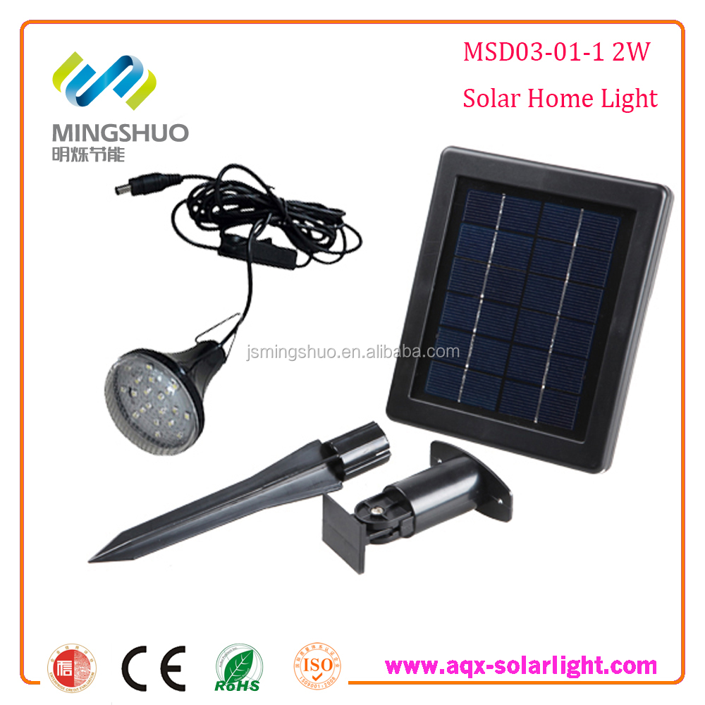 Solar Rechargeable Power Lighting 2W System for indoor