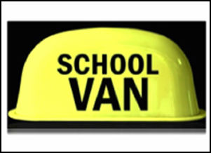 ROUND SCHOOL VAN LIGHT