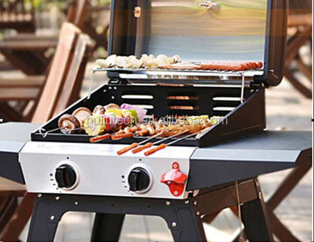 2014 popular outdoor gas BBQ meat smoker for family use HJ-BBQ004