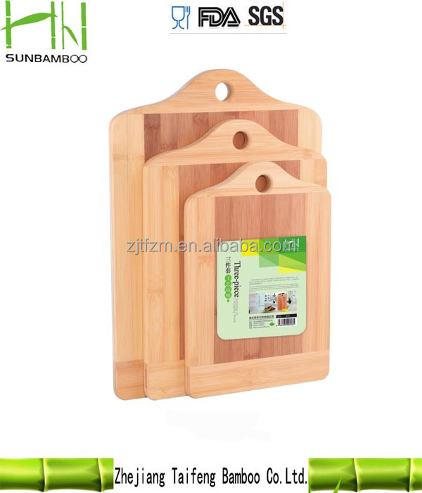 Healthy kitchen accessories bamboo cutting board set 3 Piece