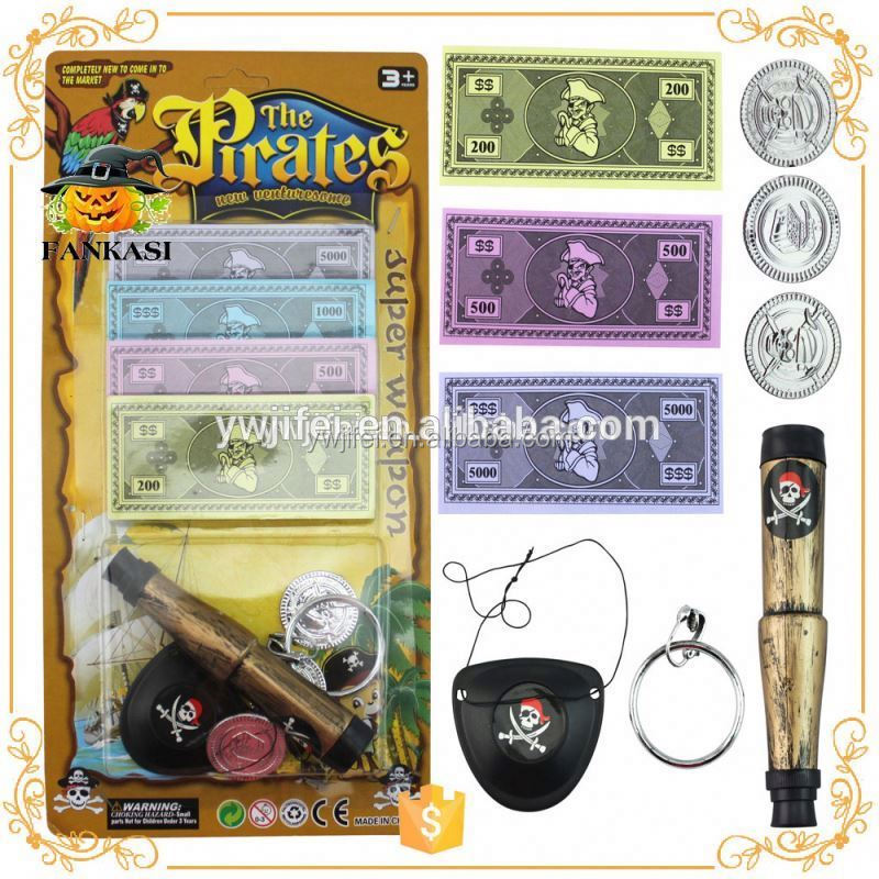 Cheap plastic pirate toys set