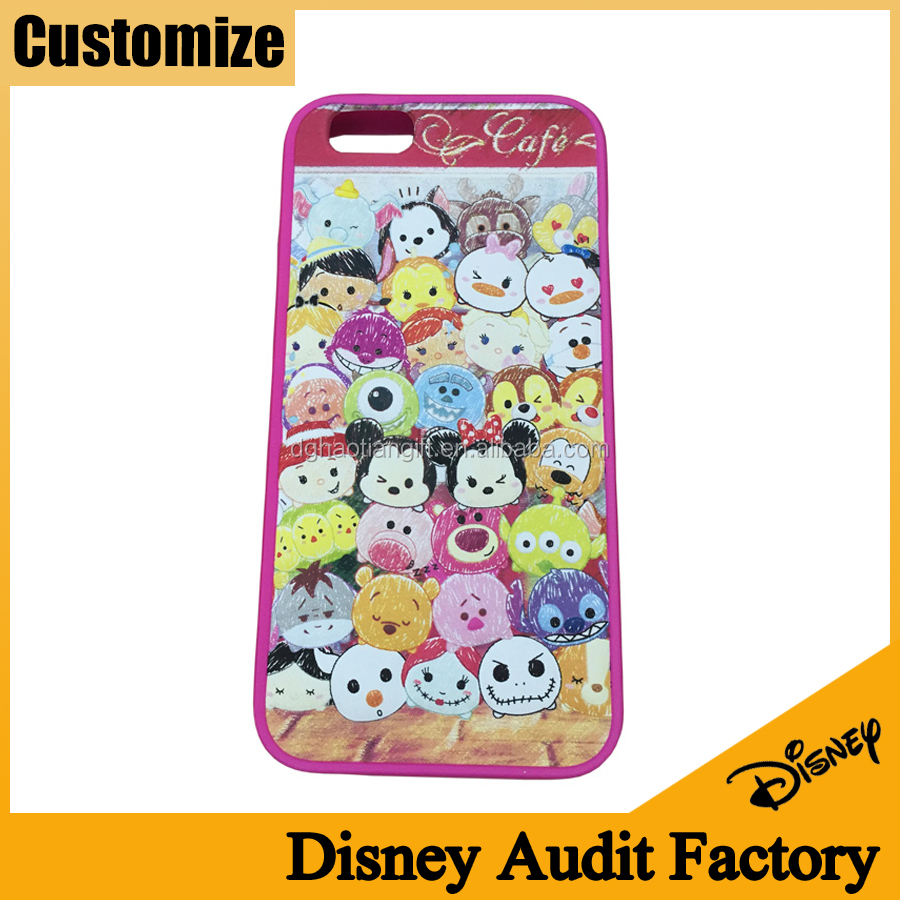 Disney audit factory Innovation 3D embossed silicone custom silicone phone cover