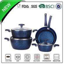 Aluminumn Nonstick marble coating flower cookware set
