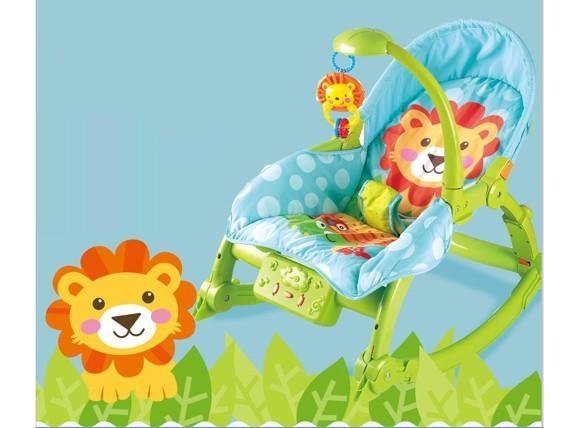 Electric musical crib stroller baby rocker chair cover baby swing