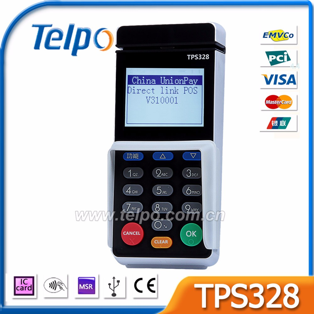 Telepower TPS328 Card Swipe Machines MPOS terminal for Electronic Security Payment