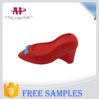 Lovely High Heel Shoe Model Dog Rotomolded PVC Product Dog Vinyl Toys