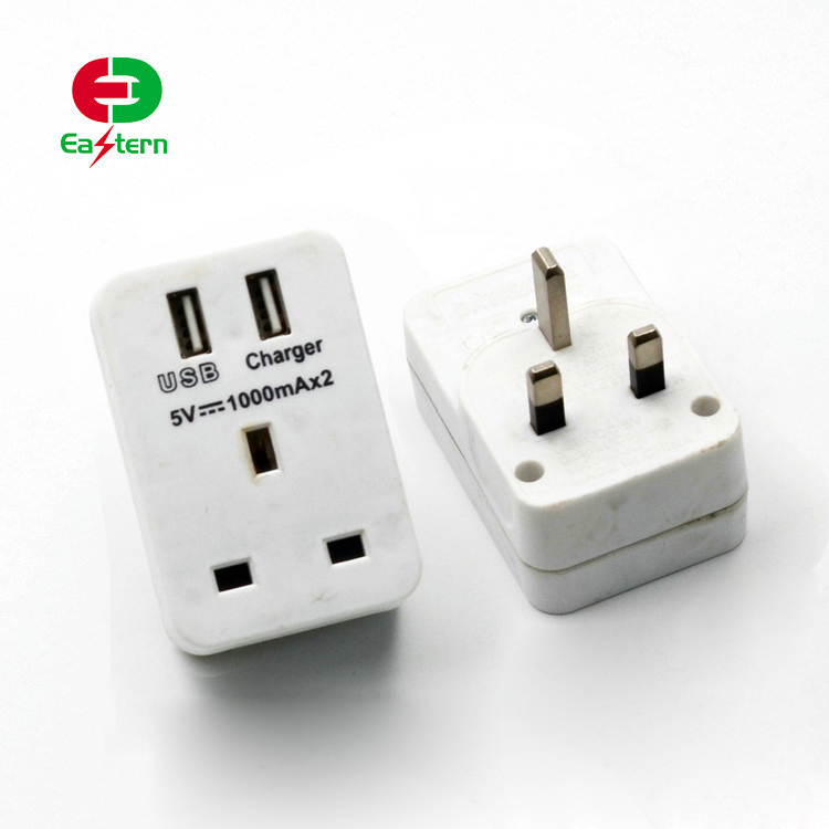 GCC PASSED Hot sale high quality wall mounted power double universal USB female to male switched socket outlet