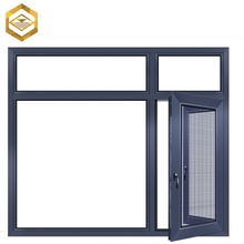 Power coated aluminum double glazed hung vertical opening window