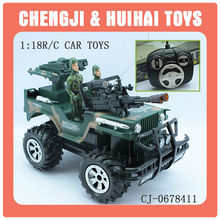Cool plastic rc military car electric jeep for kids