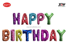 xqyy balloon factory foil balloon happy birthday 16inch letter balloon set sell party balloon