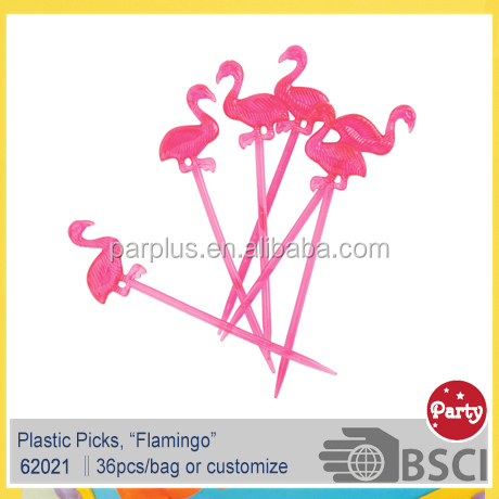 Summer Party Pink Flamingo Cocktail Picks