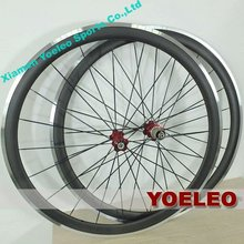 Hot sale super light carbon aluminum aero wheels 40mm clincher 700c 3k glossy or matte finish