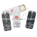 Sliding Wedding Gift Mint Tin Case with Heart Shape Mints
