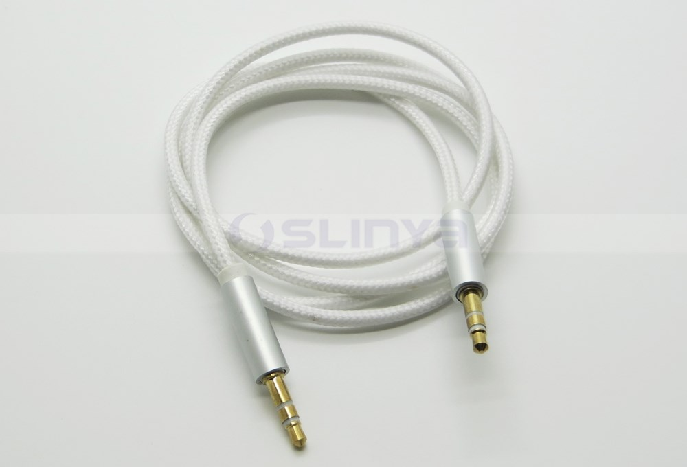 1M/3FT Male 3.5mm to Male 3.5mm Braided DJ Car Aux Cable For Mobile Cell Phone