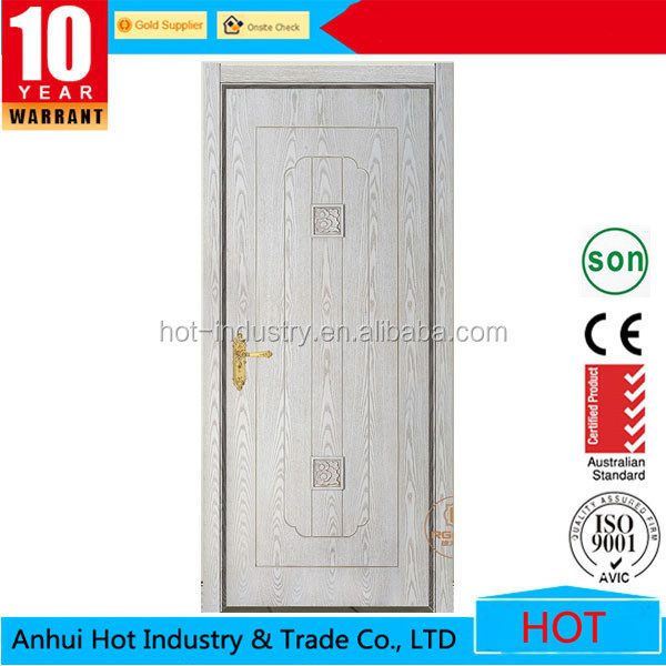 Indian House Main Gate Designs Entry Steel Doors for Sale Iron Door White Color Stainless Steel Handle Iron Door