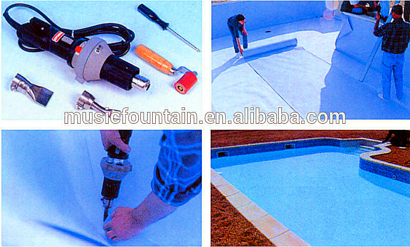 Pvc blue or mosaic swimming pool pond liner buy pond for Installing pool liner in cold weather