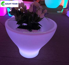 Indoor and outdoor IP68 waterproof level color changing plastic led flower pots light