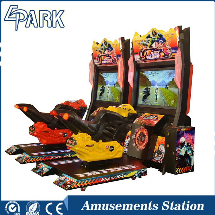 coin operated moto racing game motorcycle simulator machine