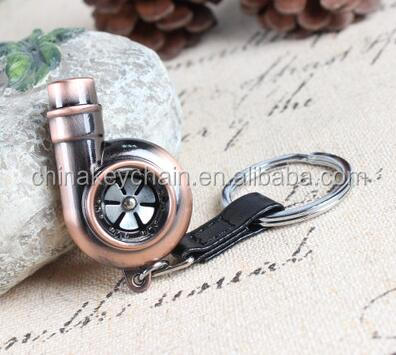 Whistle Sound Turbo Keychain Sleeve Bearing Spinning Auto Part Model Turbocharger Key Chain
