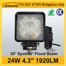 Headlight Type 4x4 accessory 24w led work lights 12v